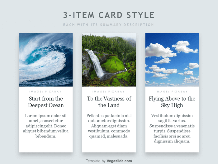 Animated 3-item Card Style PowerPoint Template 3