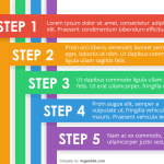 Animated 5-Step Colorful Stripes PowerPoint Template
