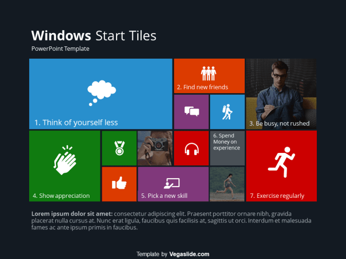 Windows Start Tiles PowerPoint Template 4