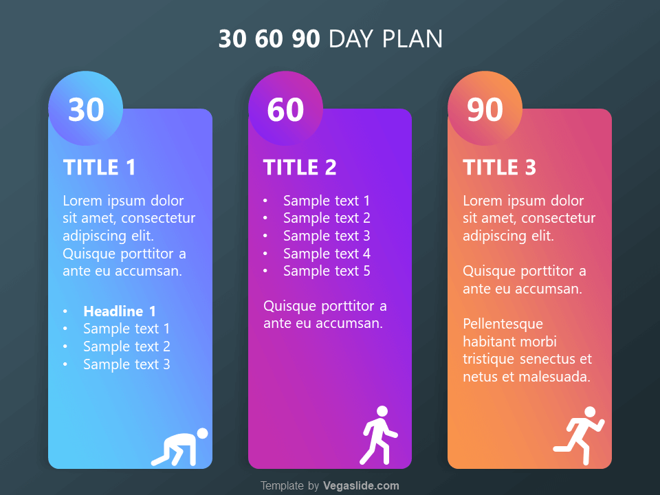Free 30 60 90 Day Plan Template from vegaslide.com