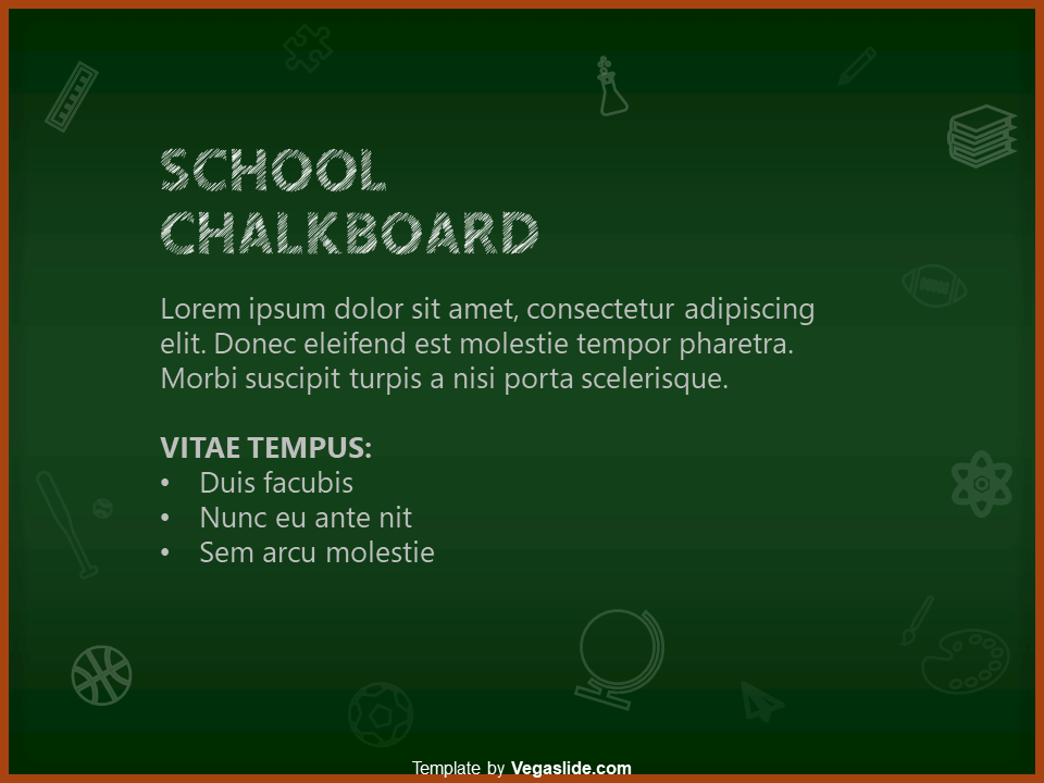 School Chalkboard PowerPoint Template