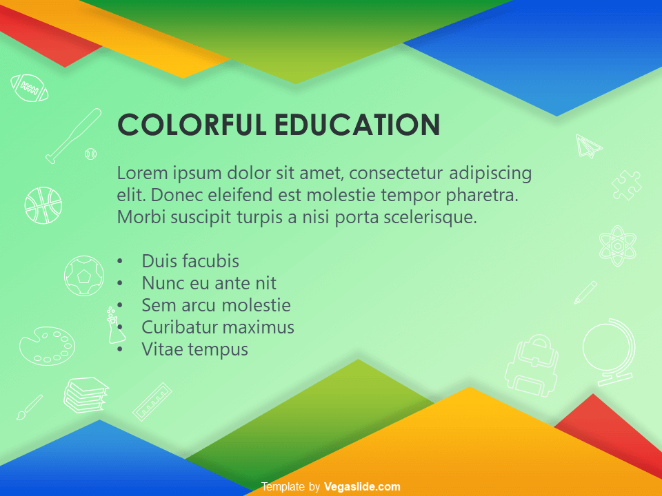 Colorful Education PowerPoint Template