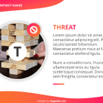 Curvy SWOT with Circular Image PowerPoint Template