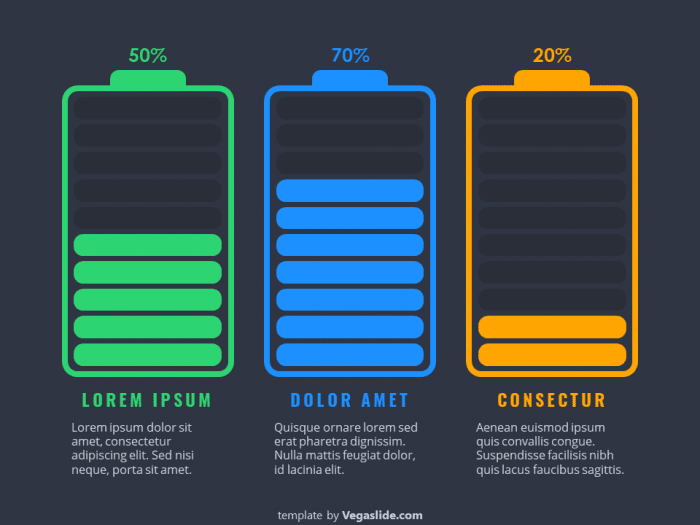 Battery Status PowerPoint Template 2