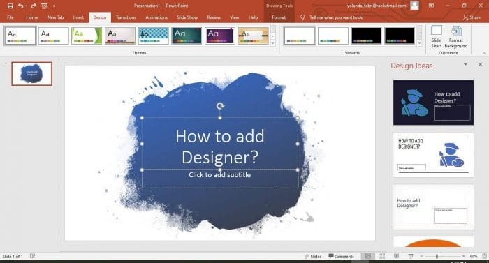 Powerpoint Designer Slide